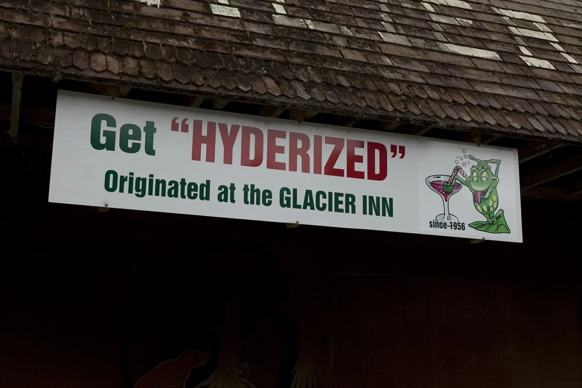 Getting Hyderized at the Glacier Inn, the bar in Hyder, Alaska where it originated