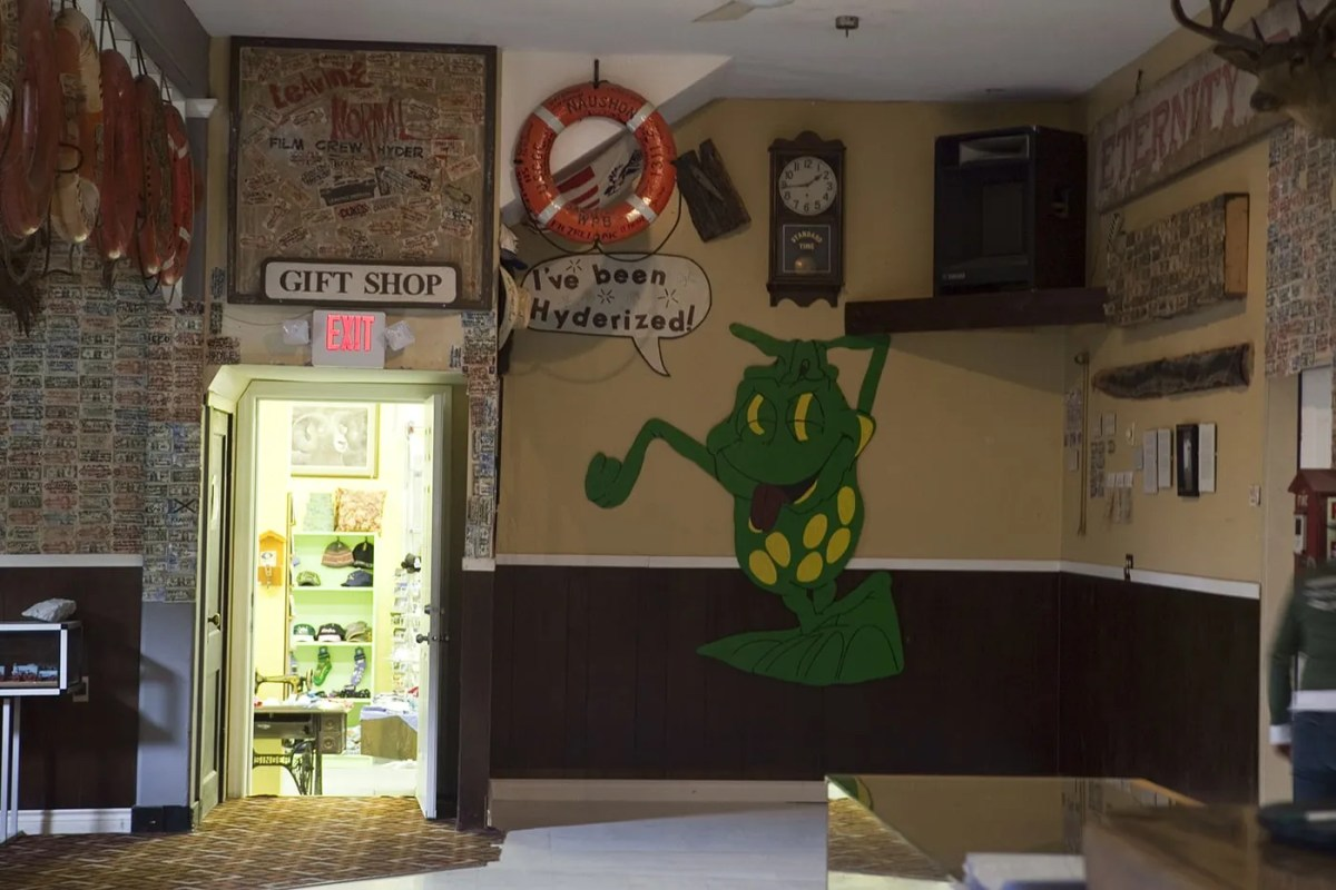 I've Been Hyderized frog painting at the Glacier Inn in Hyder, Alaska