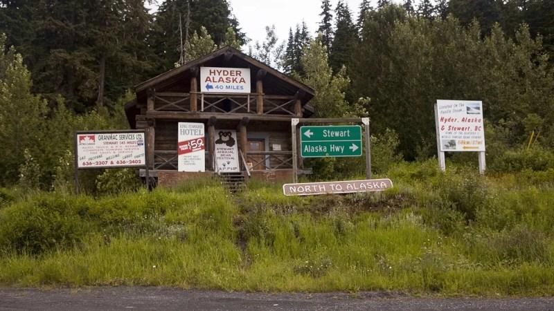 Meziadin Junction, a Hyder, Alaska Visitor Information Center, in British Columbia, Canada.