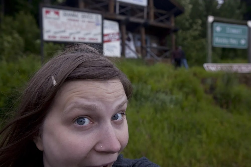 Val at Meziadin Junction, a Hyder, Alaska Visitor Information Center, in British Columbia, Canada.