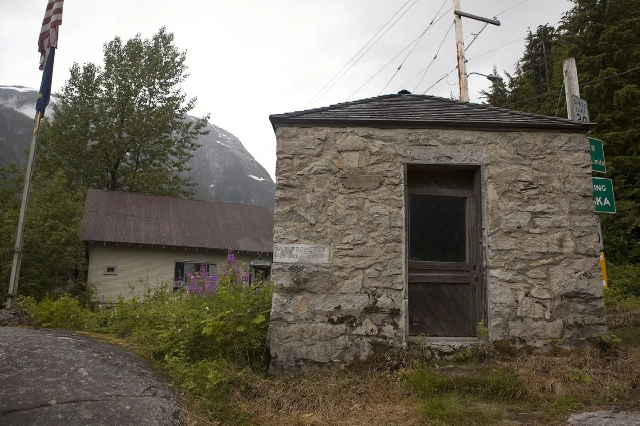 Storehouse No. 4 - Eagle Point Storehouse - in Hyder, Alaska.