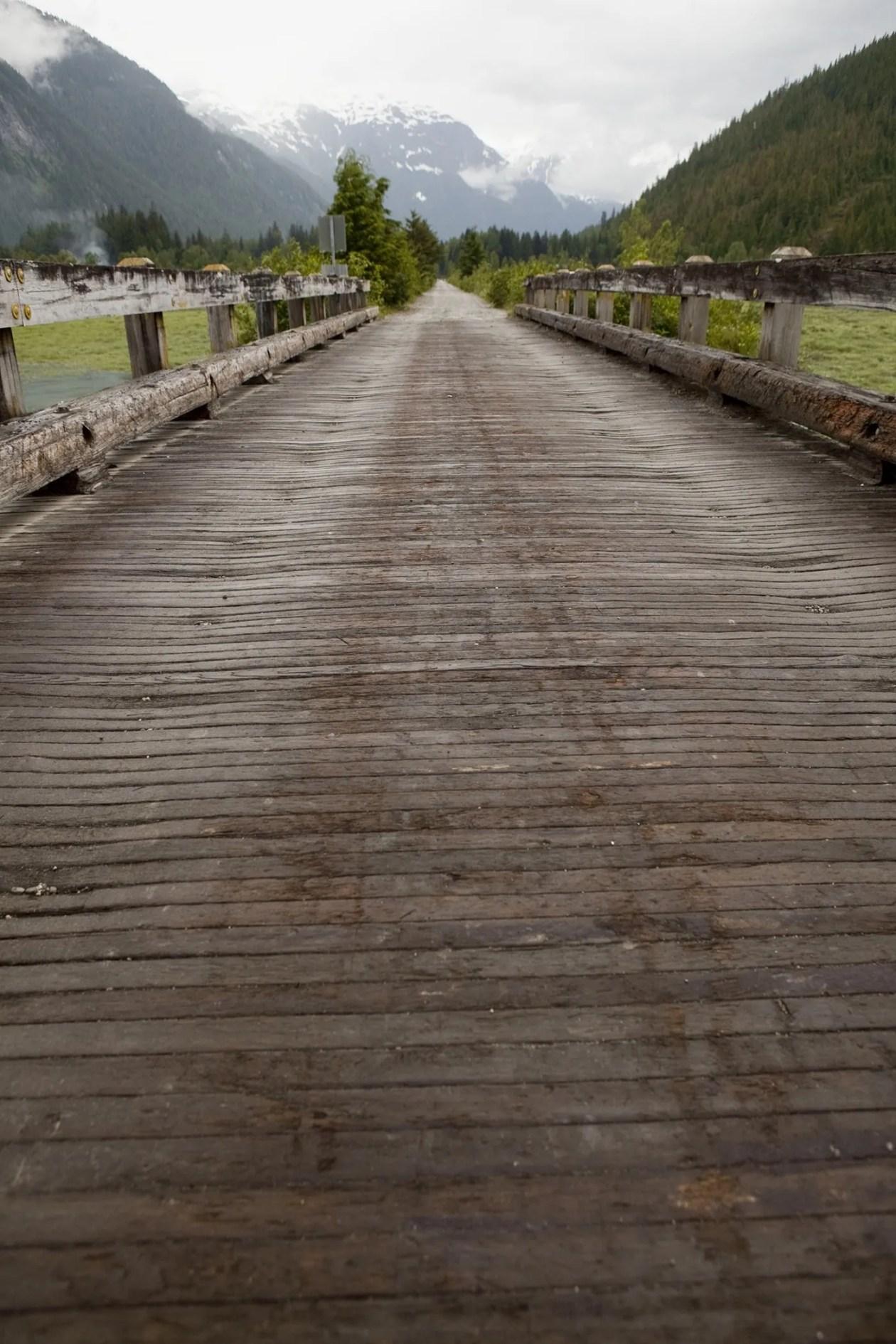Bridge on the pier in Hyder, Alaska.