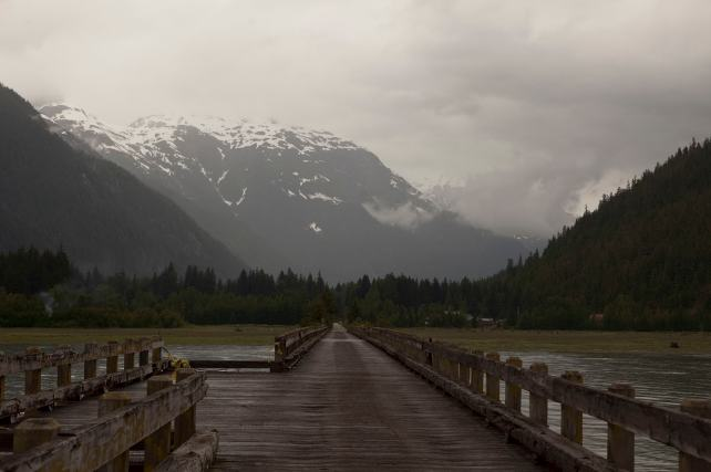 Bridge on the pier in Hyder, Alaska.