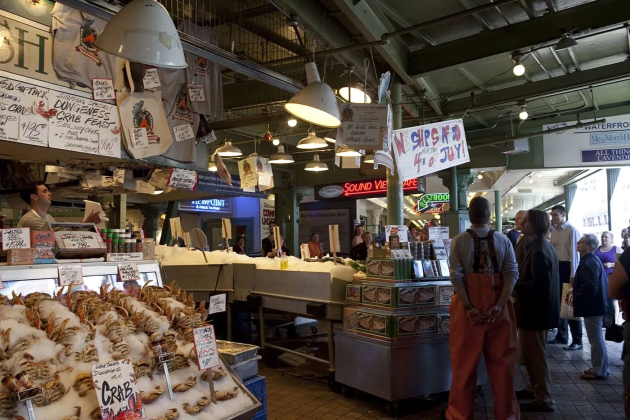 Pike place fish market in seattle washington silly america for The fish place