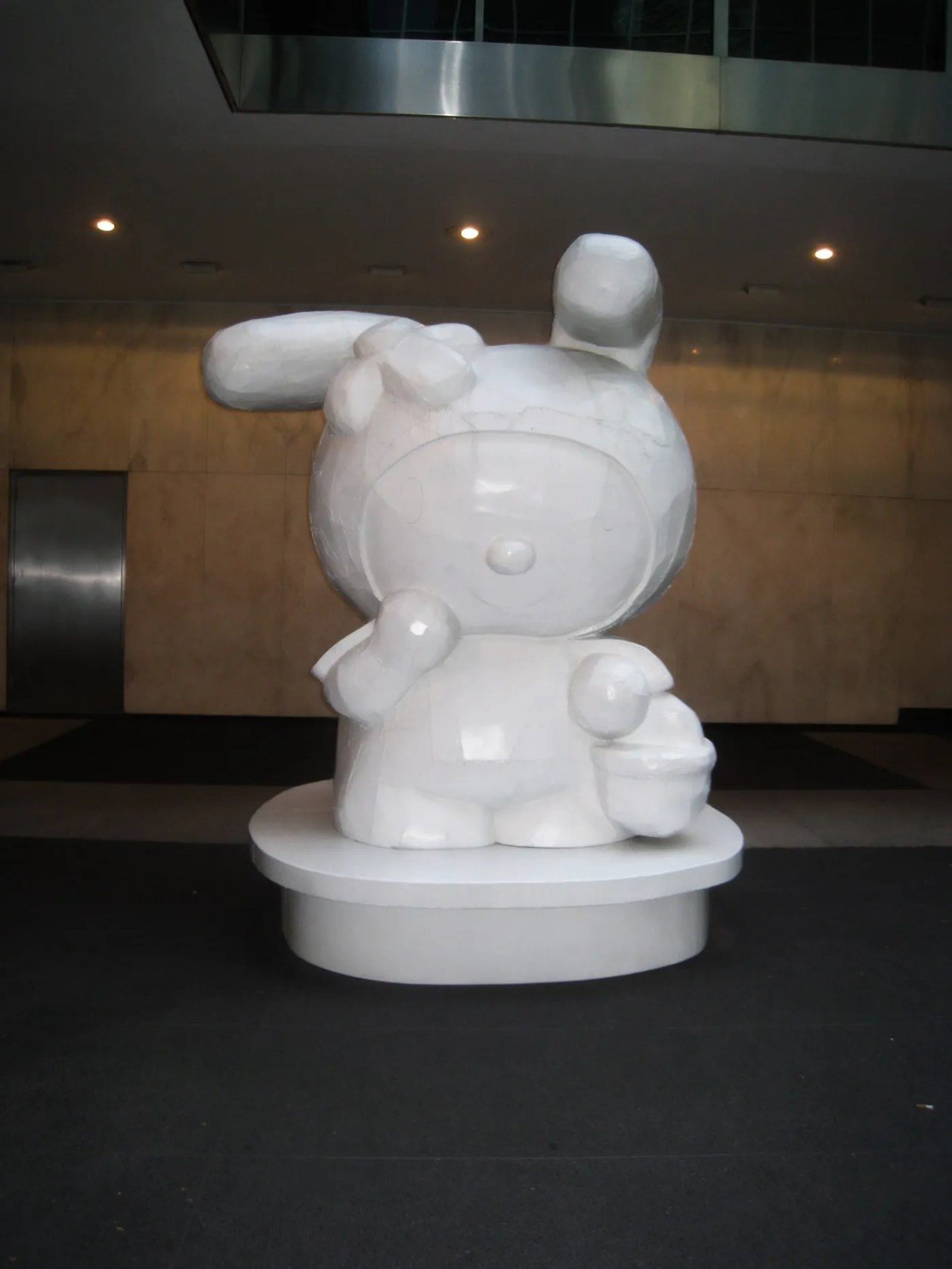 My Melody Hello Kitty Statues at the Lever House Art Collection in New York City.