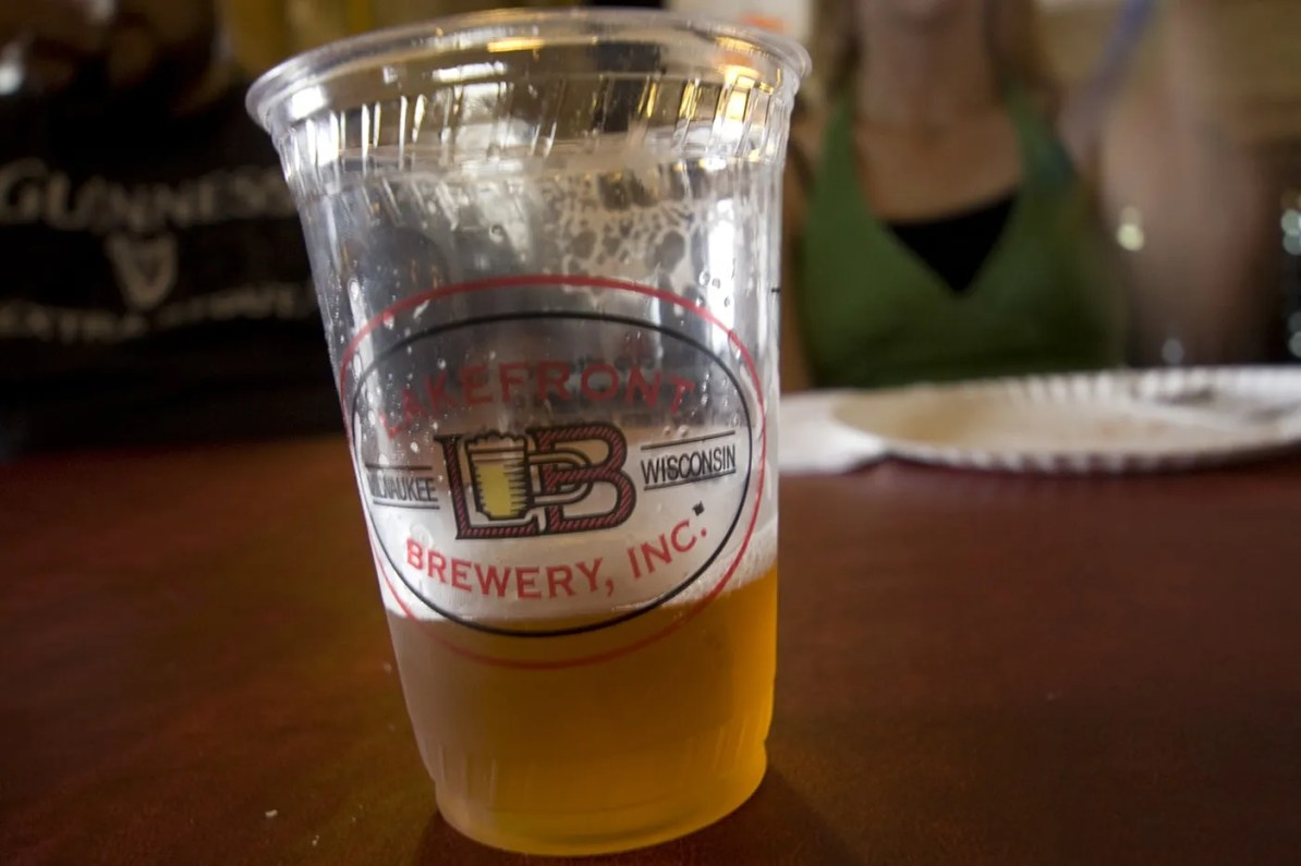 Beer at the Lakefront Brewery Tour in Milwaukee, Wisconsin
