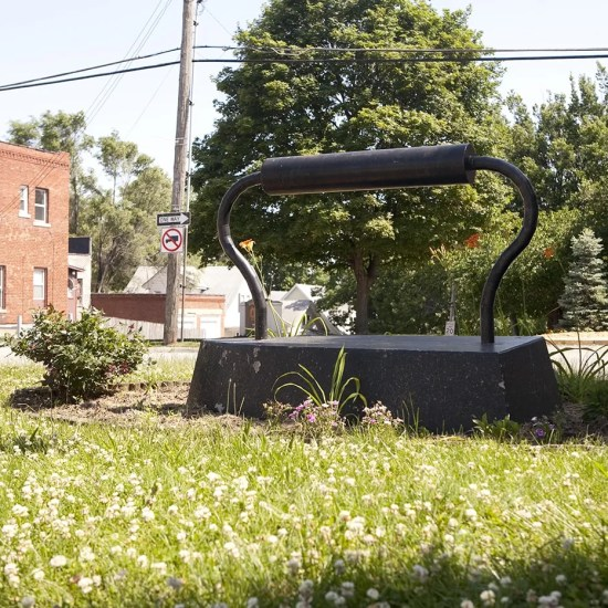 Large Old-Fashioned Iron Sculpture - a roadside attraction in Kansas City, Kansas