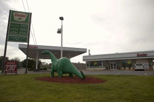 Sinclair Oil Dinosaur at a Sinclair gas station in St. Louis, Missouri