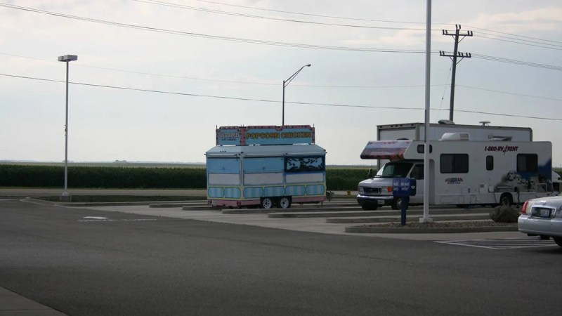 Popcorn chicken car sighted on the road in Illinois.