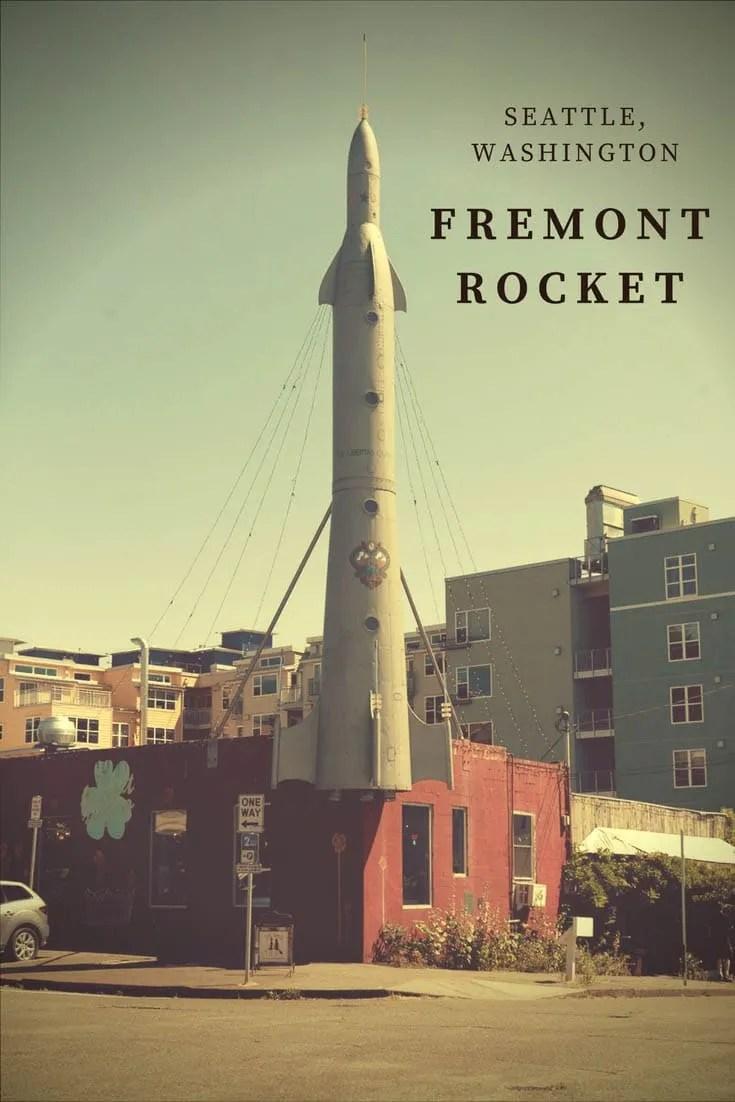 The Fremont Rocket, a roadside attraction in Seattle, Washington.
