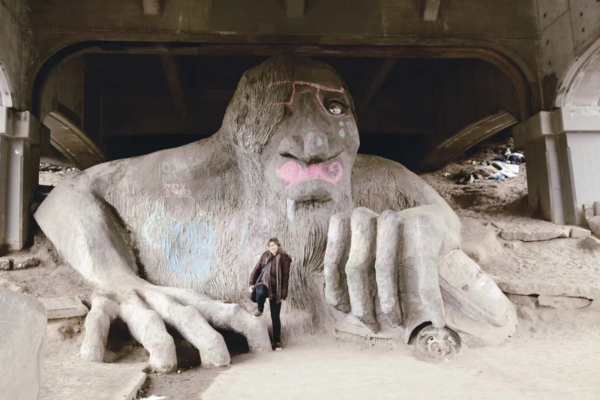 The Fremont Troll in Seattle, Washington