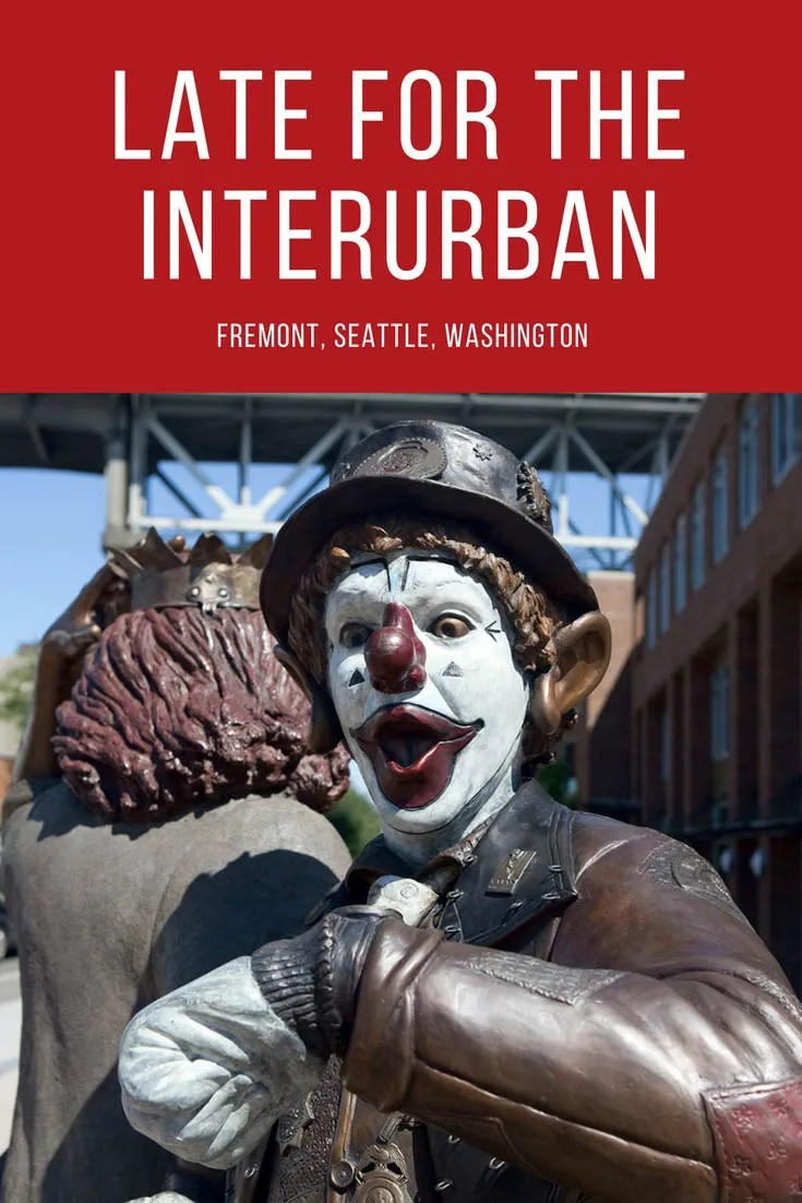 Late for the Interurban, a statue of J.P. Patches and his girlfriend Gertrude in the Fremont area of Seattle, Washington.