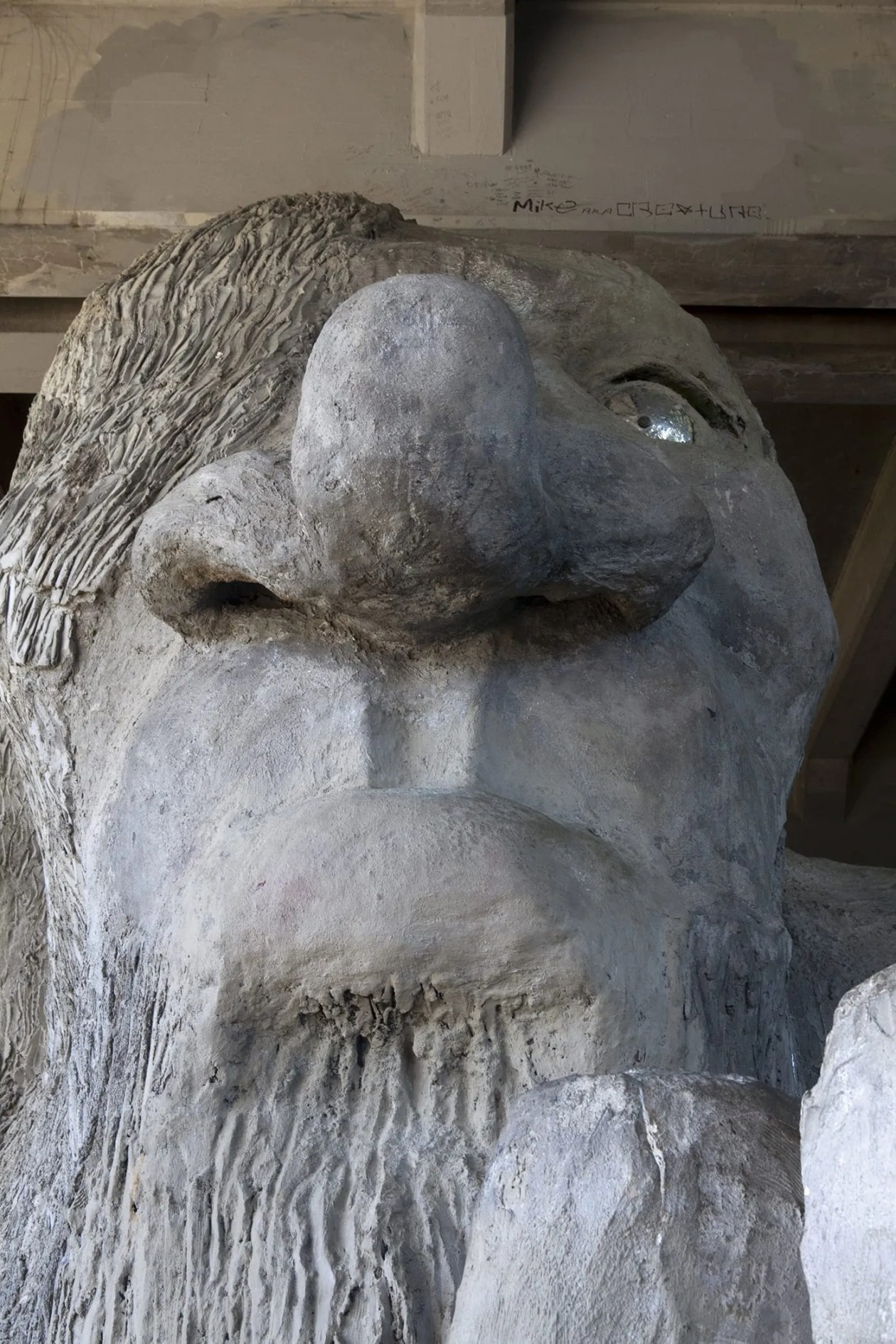 The Fremont Troll, a roadside attraction in Seattle, Washington.