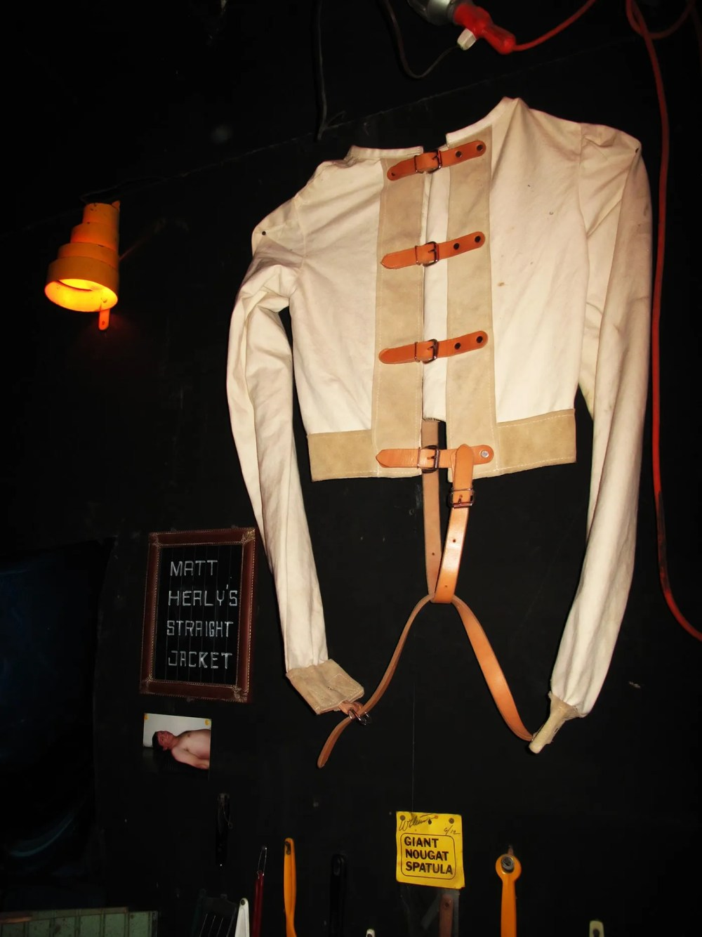 Matt Healy's straight jacket in the City Museum's Museum of Mirth, Mystery and Mayhem in St. Louis, Missouri.