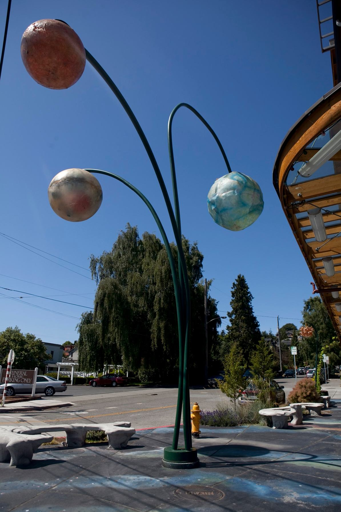 Space sculpture in the Fremont neighborhood of Seattle, Washington.