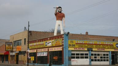 Mr. Bendo Muffler Man in Chicago, Illinois