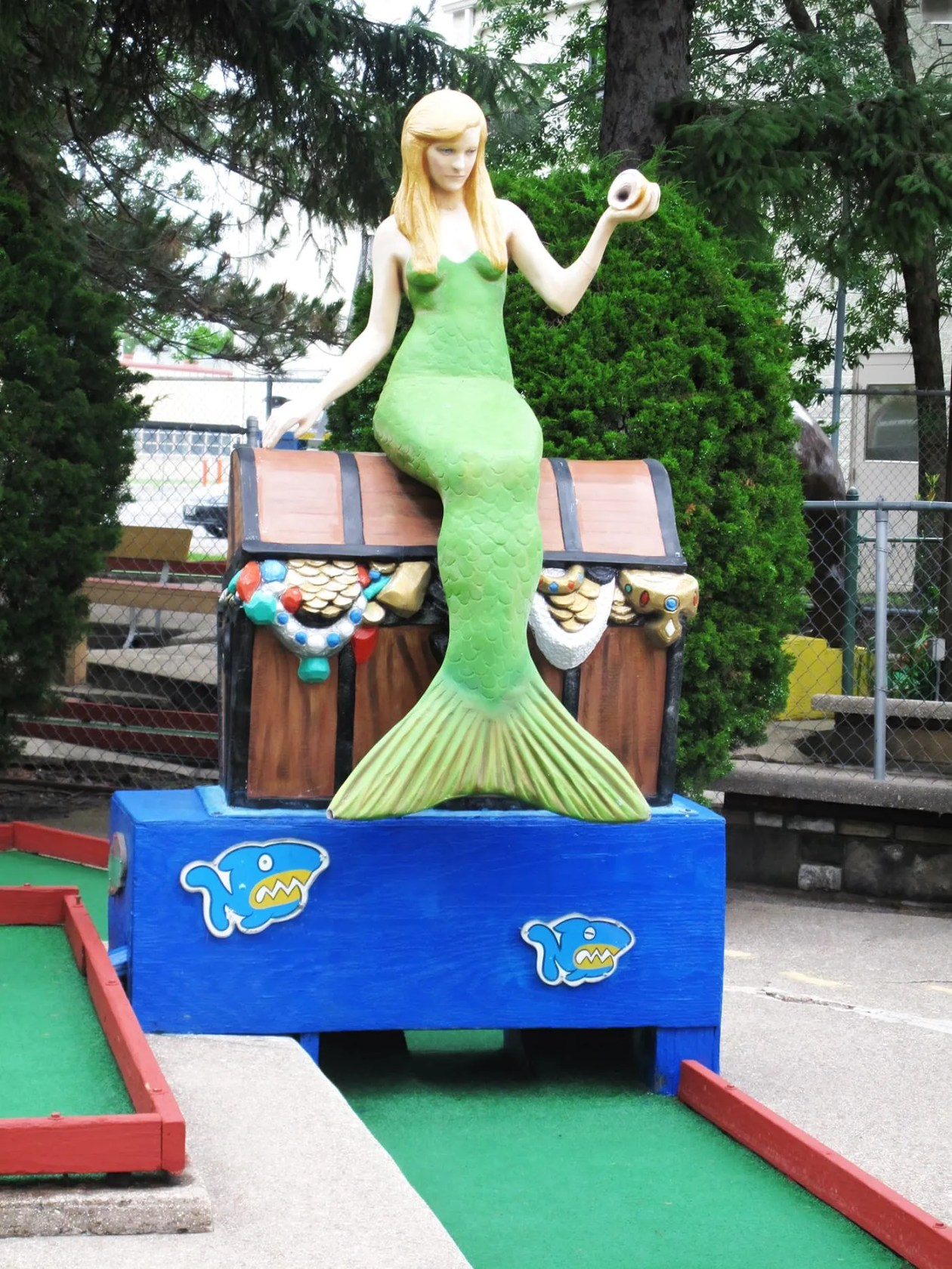 Mermaid at Novelty Golf in Lincolnwood, Illinois.