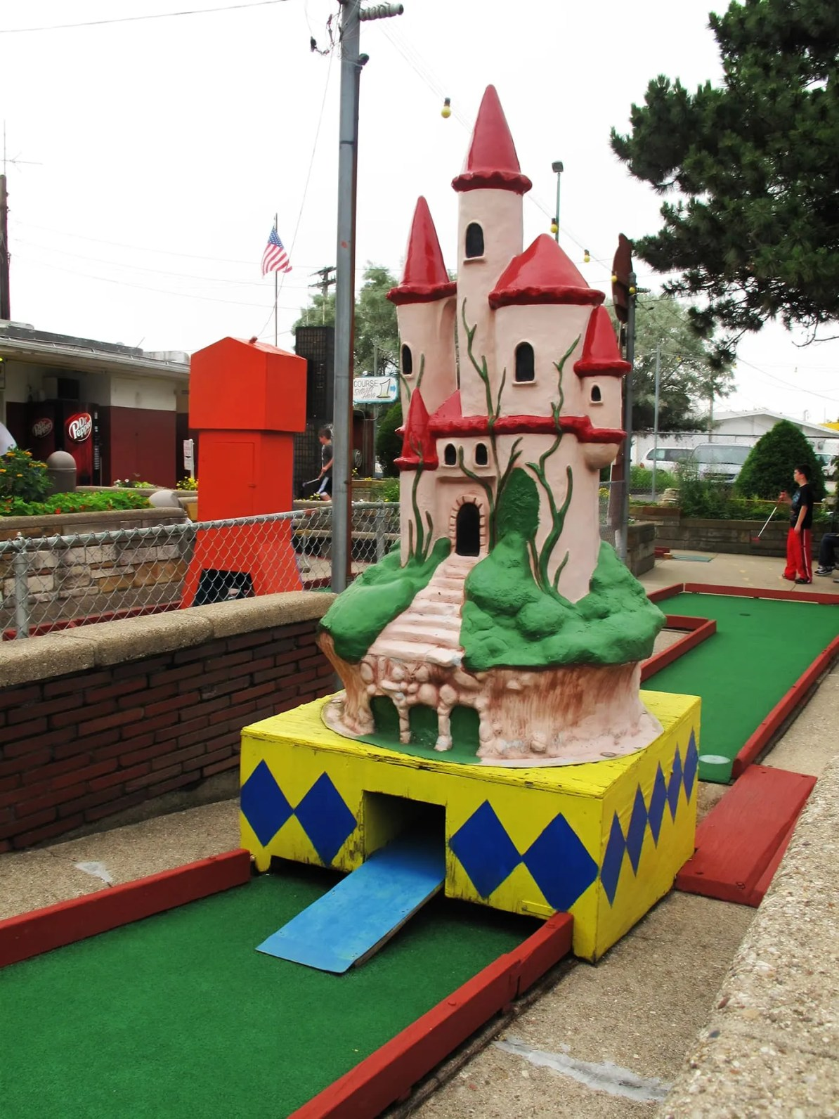 Castle at Novelty Golf in Lincolnwood, Illinois.