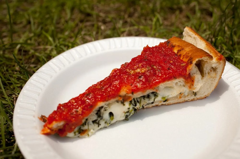 Stuffed Spinach Pizza from Bacino's at Taste of Chicago