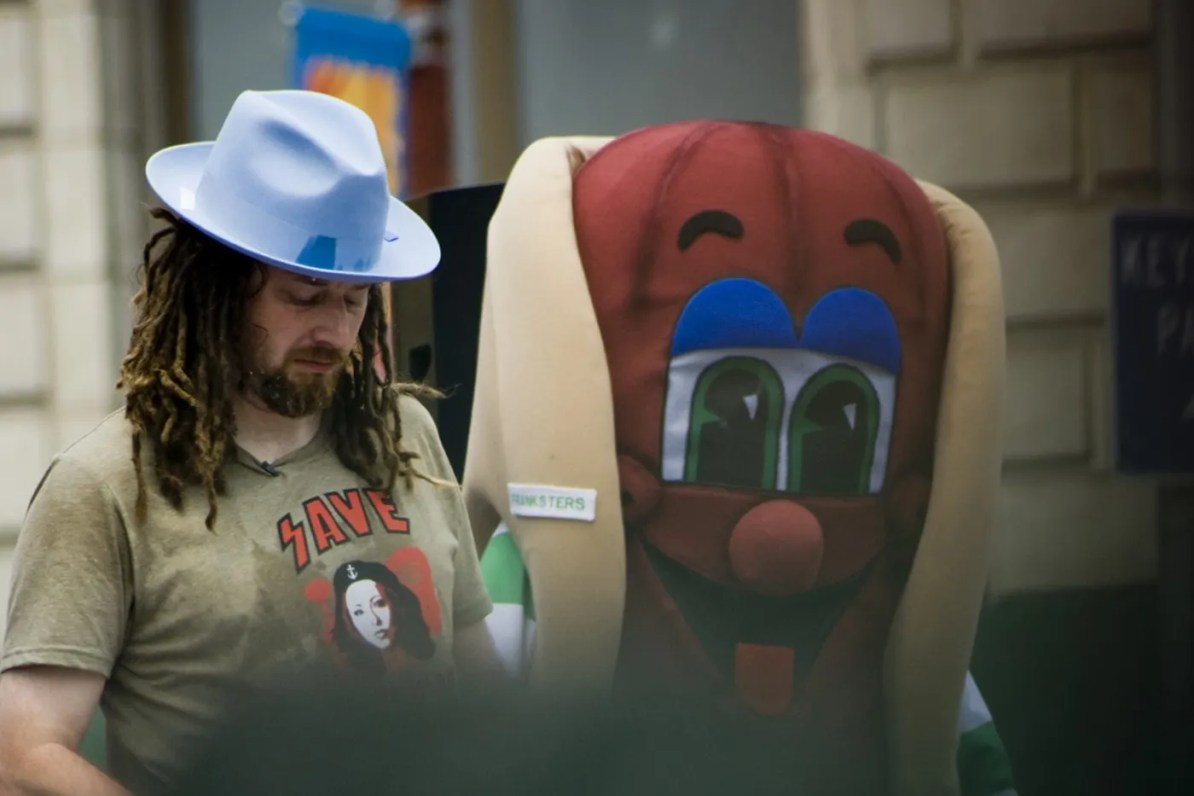 Crazy Legs Conti at the July 4th Coney Island Hot Dog Eating Contest