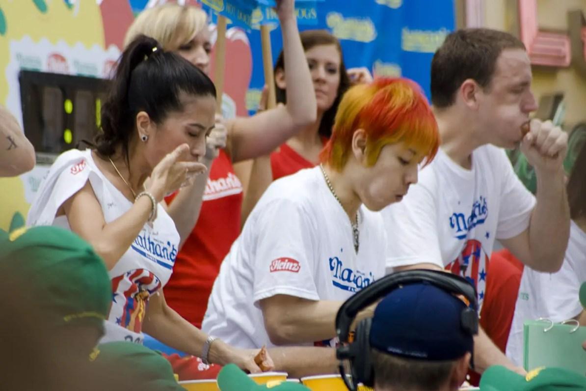 Takeru Kobayashi at the July 4th Coney Island Hot Dog Eating Contest