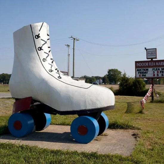Giant Roller Skate in Bealeton, Virginia - Roadside Attractions in Virginia