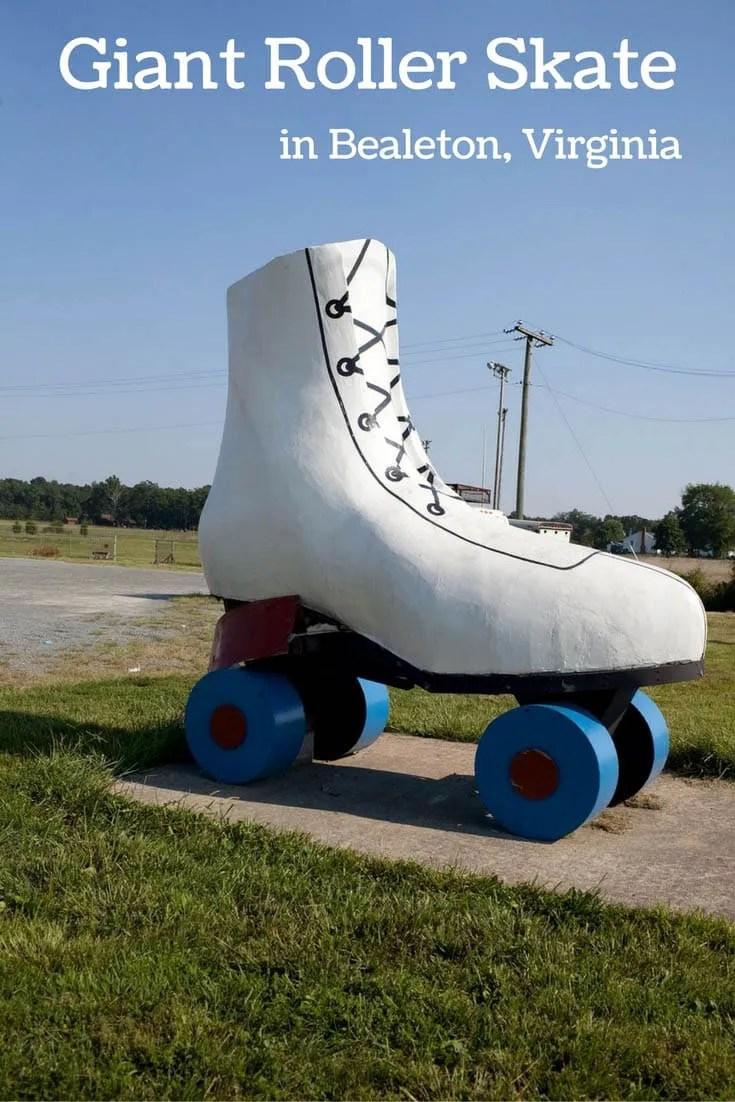 Giant Roller Skate in Bealeton, Virginia - Roadside Attractions in Virginia/North Carolia Road Trip