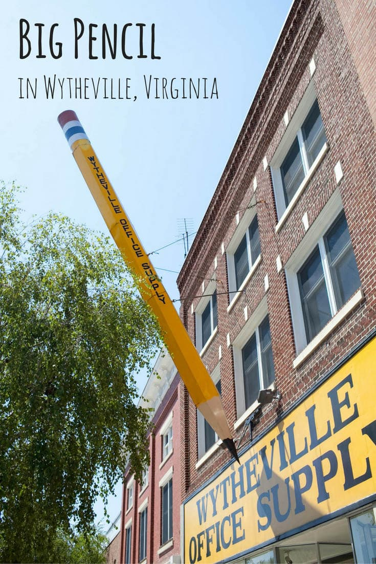Big Pencil in Wytheville, Virginia - Roadside Attractions in Virginia