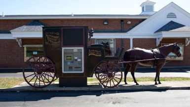 Horse and Buggy ATM in Wellington, Ohio - Ohio Roadside Attractions