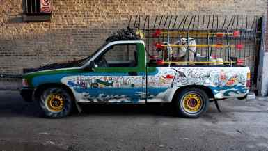 Erika Nelson's Art Car - The World's Largest Collection of the World's Smallest Versions of the World's Largest Things