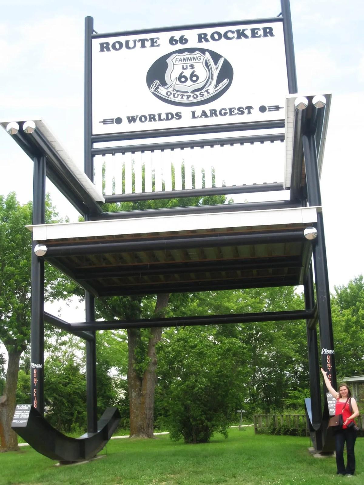World's Largest Rocking Chair in Cuba, Missouri
