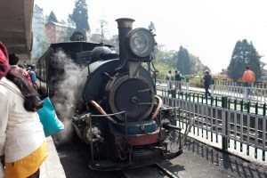 Toy Train in Darjeeling, India.