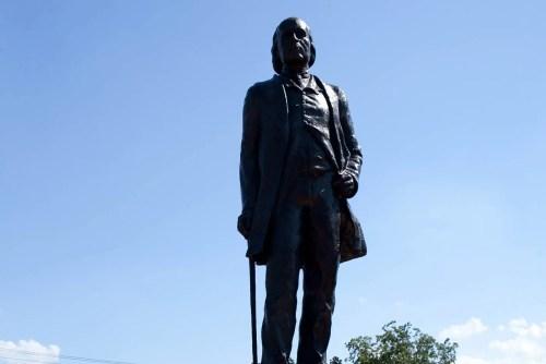 Statue of John Warwick Thomas, founder of Thomasville, North Carolina