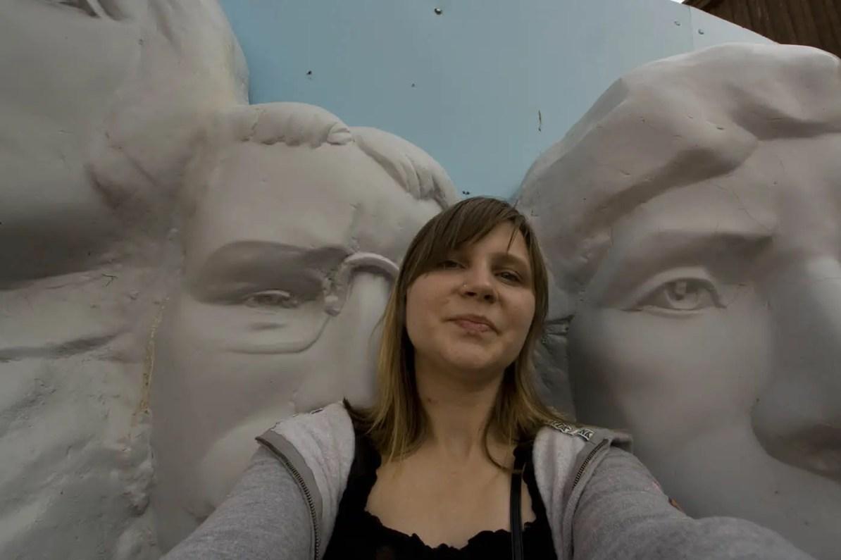 Mount Rushmore Replica at Wall Drug Store in Wall, South Dakota