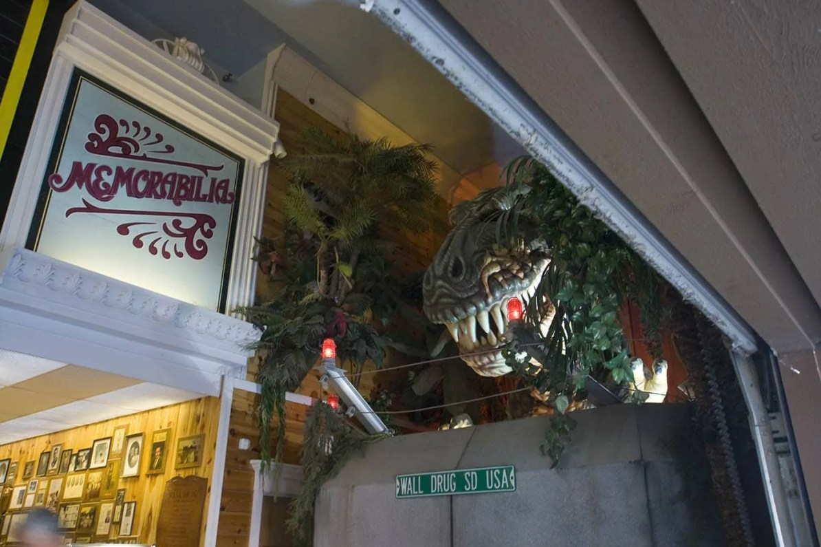 Dinosaur at Wall Drug Store in Wall, South Dakota