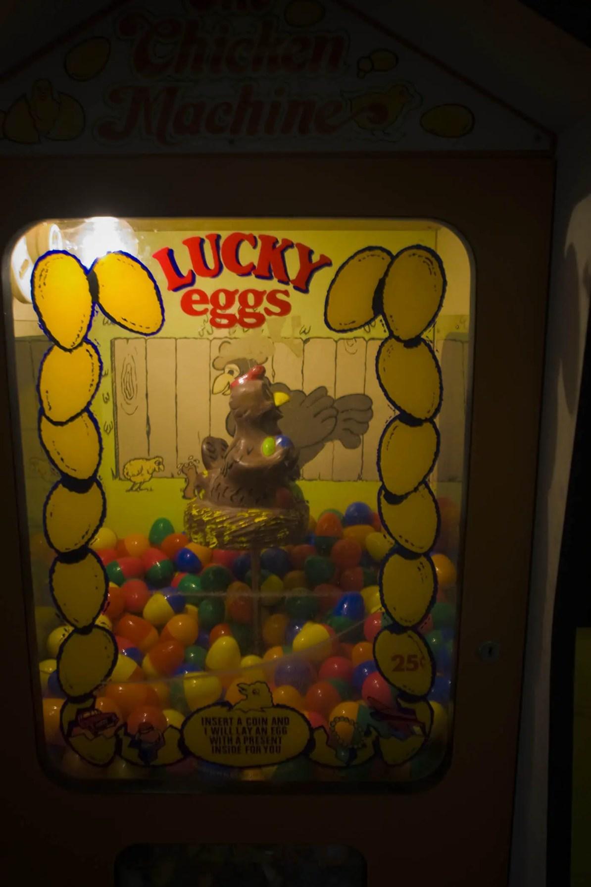 Egg Machine at Wall Drug Store in Wall, South Dakota