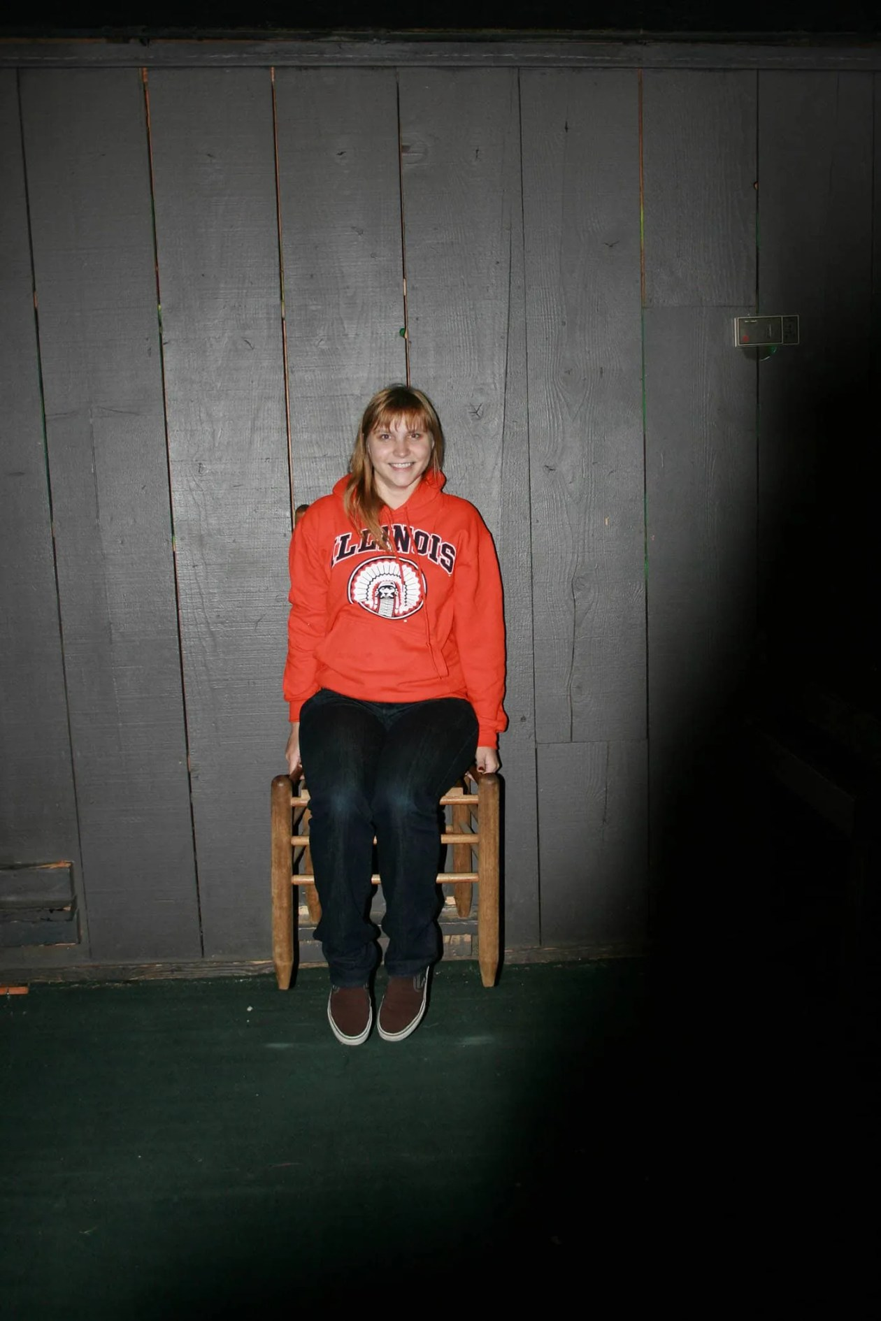 Floating in a chair at Big Mike's Mystery House in Cave City, Kentucky