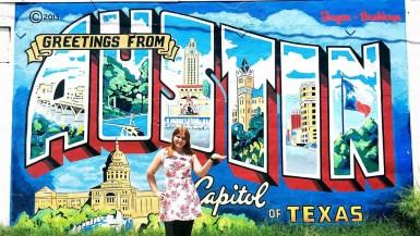 Greetings From Austin Postcard Mural in Austin, Texas