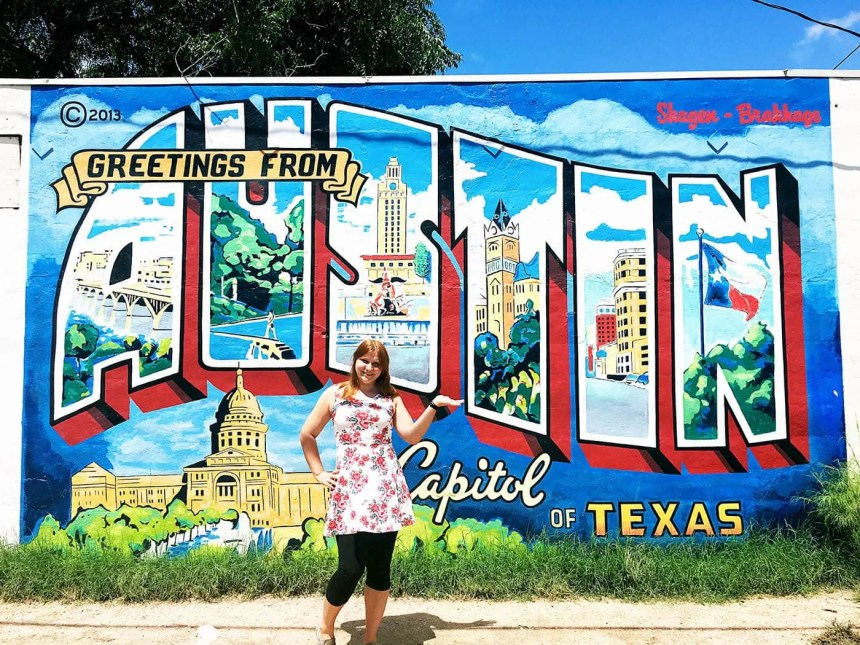 Greetings From Austin Postcard Mural in Austin, Texas