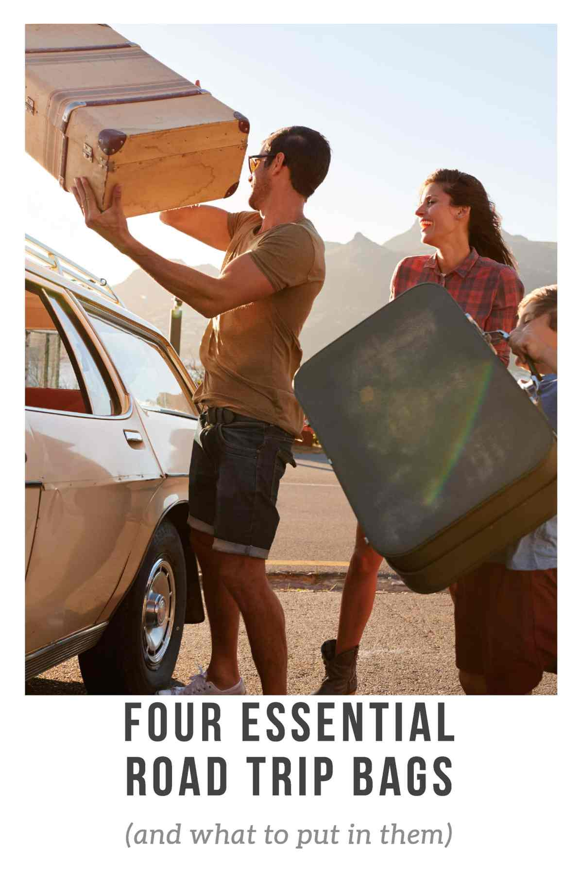 Four Essential Road Trip Bags (and what to put in them) -- There are three or four essential road trip bags every traveler should have in their car. Here's what they are, what to put in them, and where to keep them.
