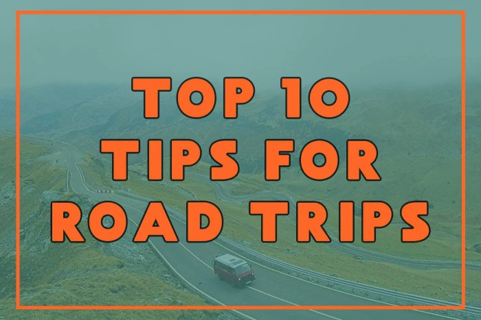 Top Ten Tips for Road Trips