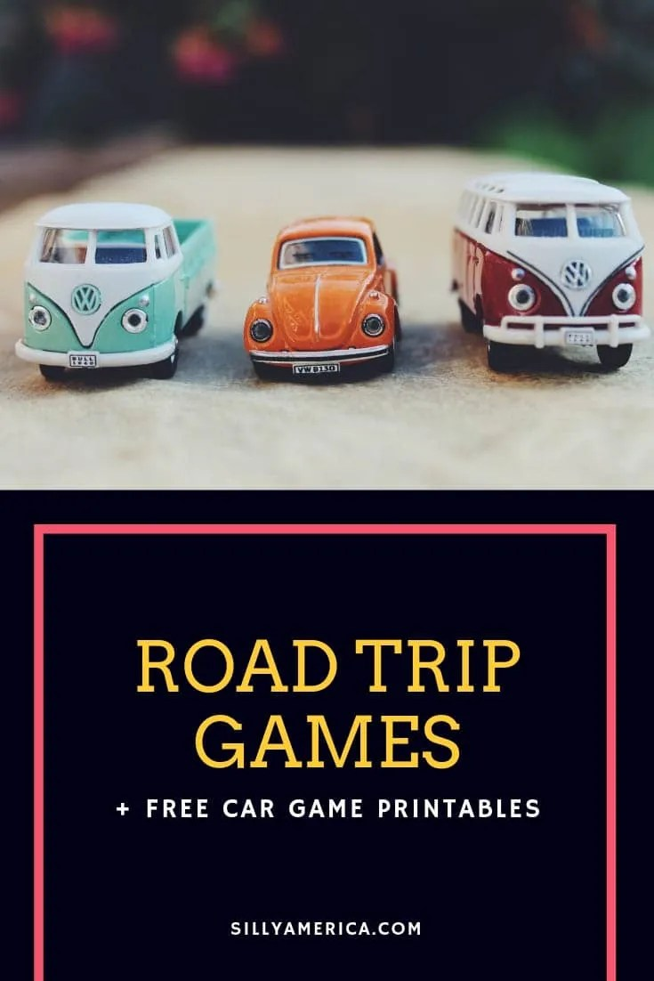 Road Trip Car Games + Free Car Game Printables | Road trip car games that will keep your passengers or kids occupied in the car on your next road trip. Free printables & suggestions for car-friendly games.