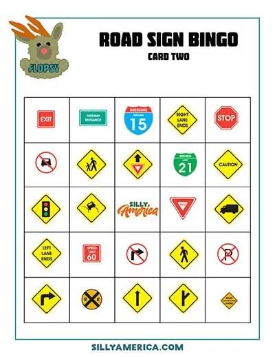 Download Road Sign Bingo - Card 2