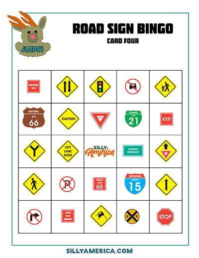 Download Road Sign Bingo - Card 4