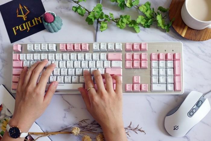 3C配件│POJUN PJ02 粉色白光版機械式電競鍵盤。愛不釋手的新鍵盤開箱*