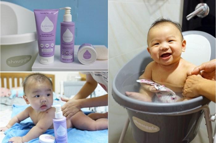 育兒│英國 Shnuggle 月亮澡盆。一個人也能輕鬆幫寶貝洗澡,雙寶媽的育兒神器!
