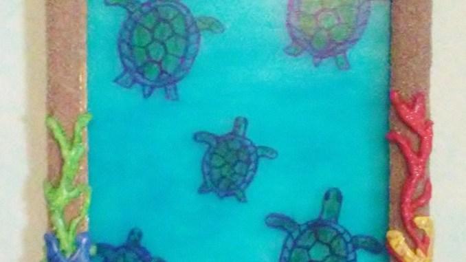 DIY Sea Turtles Faux Sea Glass Painting!  