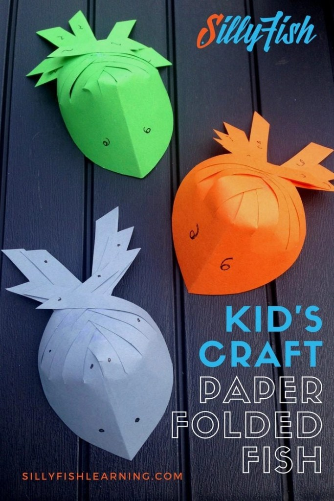 Kid's Craft | Paper Folded Fish | A quick paper craft from Silly Fish Learning