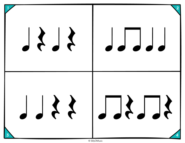 4 square rhythms ta, tit, z-05
