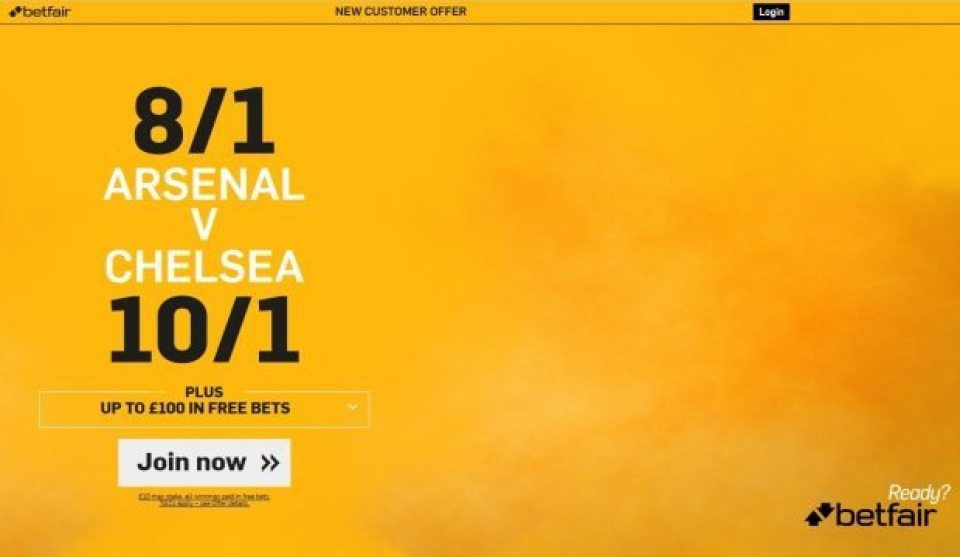 Arsenal vs chelsea betting preview on betfair boavista vs porto betting expert boxing